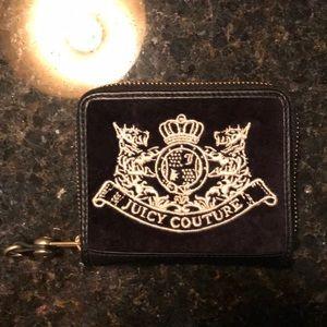 Juicy Couture Black Velvet Compact Wallet